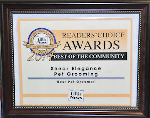 2014 Readers Choice Award Best of the Community Pet Grooming